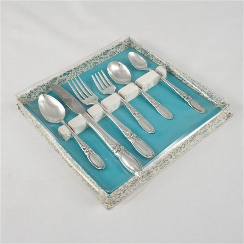 White Orchid by Community, Silverplate Baby & Child Step Up Set, 6-PC