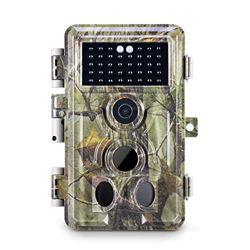 Meidase Trail Camera 16MP 1080P, Game Camera with No Glow Night Vision Up to 65ft, 0.2s Trigger Time Motion Activated, 2.4 Color Screen Waterproof Wildlife Hunting Camera (Camouflage_Green)