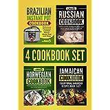 4 Cookbook Set: Brazilian Instant Pot Cookbook, Russian Cookbook, Norwegian Cookbook & Jamaican Cookbook
