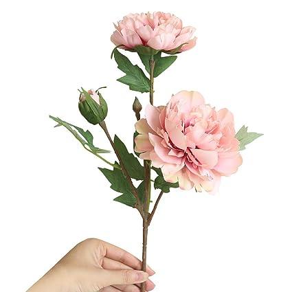 TAOtTAO - Ramo de Flores Artificiales de Seda con Flores de peonía para Boda o Novia