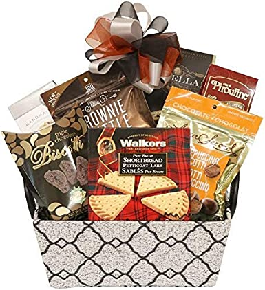 Kosher Holiday Birthday Thank You Gift Basket With Cookies Chocolate And