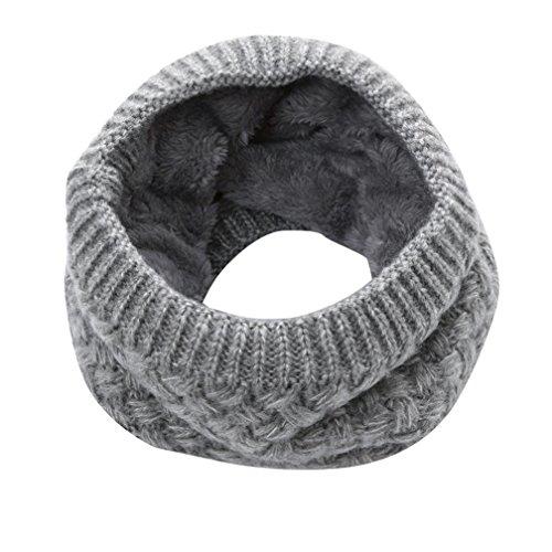 Elaco Cozy Scarf, Fashion Man Winter Warm Scarf Wome Bufanda Thickness Knitted Collar (Gray)