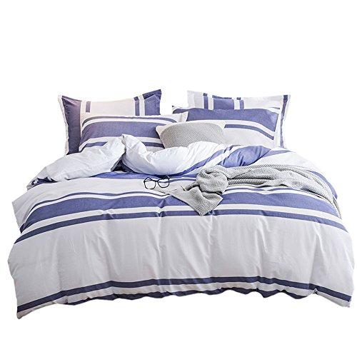 Hot Lausonhouse 100% cotton yarn dyed Duvet Cover Set - Queen - Blue m288neiB