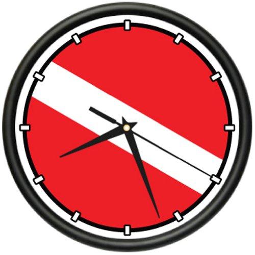 SignMission Scuba Flag ~Wall Clock Diver Dive fins mask tusa, Beagle