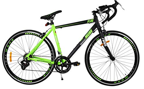 Monk Bicicleta de Ruta Modelo Flug de Aluminio con Componentes Shimano Rodada 700C 14 Velocidades (Verde)