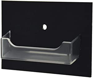 Marketing Holders Single Pocket Gift Card Retail Holder Reward Points Card Display Contact Business Card Holder Display Customize Card Rack Vertical Wall Mount Orgainzer 1 Pocket Black and Clear