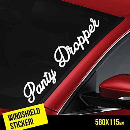 873e838ca14 Image Unavailable. Image not available for. Color  PANTY DROPPER Windshield  JDM Sticker