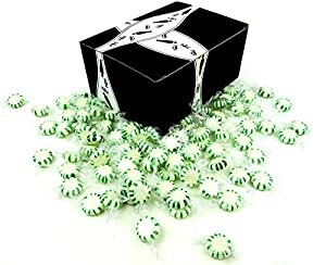 Spearmint Starlight Disks by Cuckoo Luckoo Confections, 2 lb Bag in a Gift Box