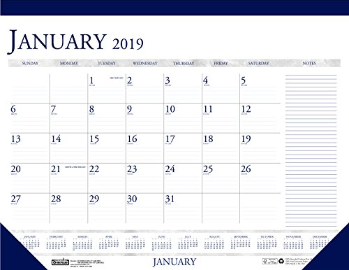 House of Doolittle 2019 Monthly Desk Pad Calendar, Classic with Notes Section, 18.5 x 13 Inches, January - December (HOD1646-19)