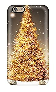 New Snap-on ZippyDoritEduard Skin Case Cover Compatible With Iphone 6- Glowing Christmas Tree