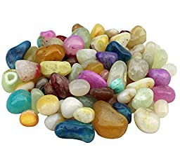ITOS365 Pebbles Glossy Home Decorative Vase Fillers Stone, 1 KG