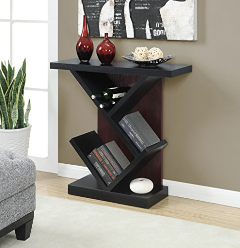 Newport Leather Bench (Convenience Concepts Newport Collection Bistro Console Table, Black/Mahogany)