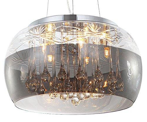 Cristallo led plafoniera lampada a sospensione lampadario vetro