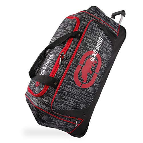 Ecko Unltd. 32″ Steam Collection Rolling Duffel, Red