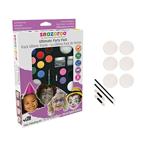Snazaroo Face Paint Ultimate Party Pack with 10-Piece Applicator Pack (Award Winning Costumes)