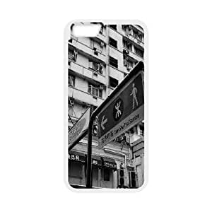 Iphone 6 Case, hong kong buildings black and white Case for Iphone 6 4.7 screen White tcj565705 tomchasejerry