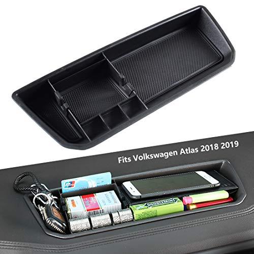 EDBETOS Interior Dashboard Storage Box Organizer Holder Tray Compatible with VW Volkswagen Atlas 2018 2019 Dash Mounted Holders Accessories ()