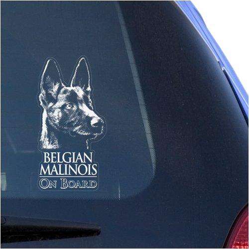 Belgian Malinois Clear Vinyl Decal Sticker for Window, Mechelaar Shepherd Dog Sign Art Print (Belgian Malinois Sticker)