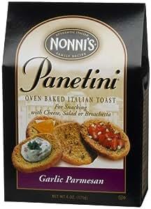Nonni's Panetini Italian Toast, Garlic Parmesan, 6-Ounce Units (Pack of 6)