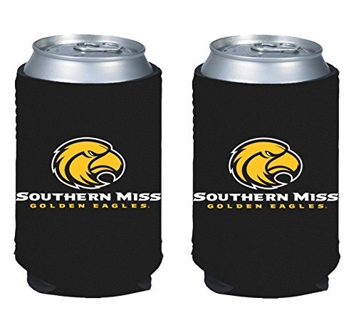 NCAA College 2014 Team Logo Color Can Kaddy Holder Cooler 2-Pack (Southern Miss Eagles)