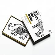 Wee Gallery Art Cards for Baby, High Contrast Black and White Cards for Baby, Safari Collection - 0 to 12 Months