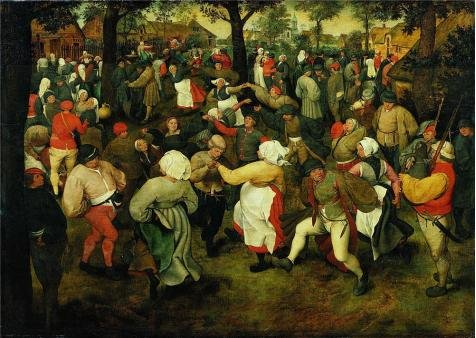 [Oil Painting 'Pieter Brueghel I,The Dance Of The Bride,ca.1525-1569' Printing On Perfect Effect Canvas , 18x25 Inch / 46x64 Cm ,the Best Bar Gallery Art And Home Decoration And Gifts Is This Amazing Art Decorative Canvas] (Community Costumes Dance Type)