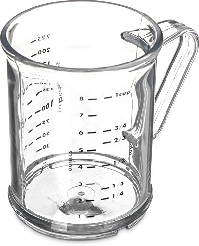 """Carlisle 431507 Commercial Measuring Cup, 8 O., 3.74"""" Height, 3"""" width, 3"""" Length, Polycarbonate (Pc), Clear"""