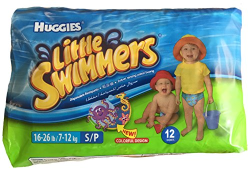 Huggies Little Swimmers Disposable Swim Diapers, Small, 12-Count - Pink/Blue from HUGGIES