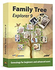 Family Tree Explorer 9 - Genealogy software compatible with Windows 10, 8.1, 7 - compatible with the international GEDCOM format
