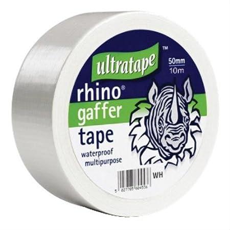 Rhino 50mm 10mtr Multipurpose Gaffer Tapewhte Ultratape 04695010WHS1