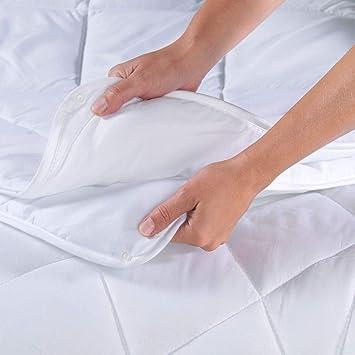 Bettdecke Winter 220x240 cm Steppdecke Mikrofaser Allergiker geeignet weiß NEU