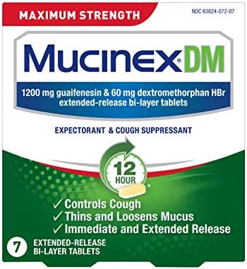 Cold & Flu: Mucinex DM Maximum Strength 12-Hour Tablets