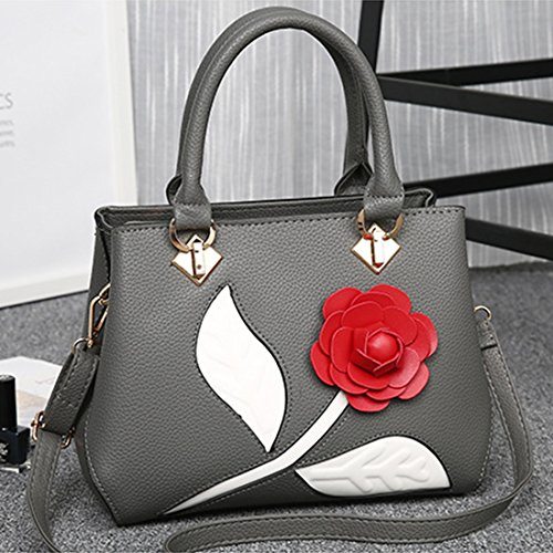 avec sac Fille Sac a Sac Rose gris bandouliere main fonce Travail Casual YYF a Femme dos IYwp5x