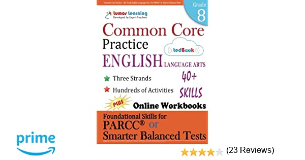 Amazon.com: Common Core Practice - 8th Grade English Language Arts ...