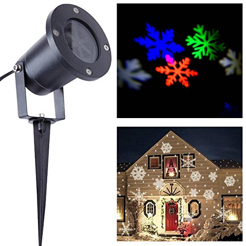 Led Projection Lights-Snowflake Projector Light,Projection Spotlight,Multi Color Snowflake Spotlight,LED Landscape Projector Light,Snowflake Moves Automatically, Christmas Projector Lamp