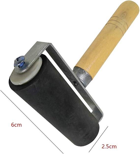 hecha de goma suave tintado para proyectos de manualidades; estampado herramienta para impresi/ón de rodillo color negro Rodillo de ULTNICE