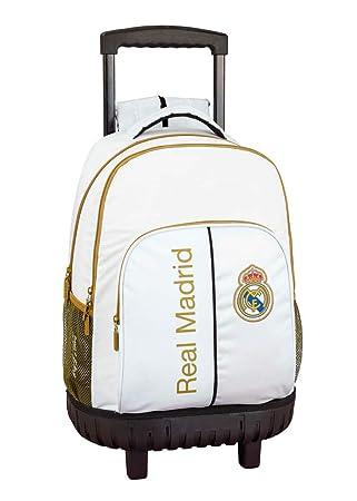 Real Madrid CF Mochila Grande con Ruedas Carro Fijo, Trolley ...
