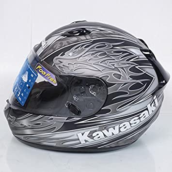 Casco integral Kawasaki k-ninja Dragon Talla XL, colores negro y gris mate Neuf