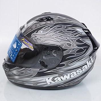 Casco integral Kawasaki k-ninja Dragon Talla XL, colores negro y gris mate Neuf