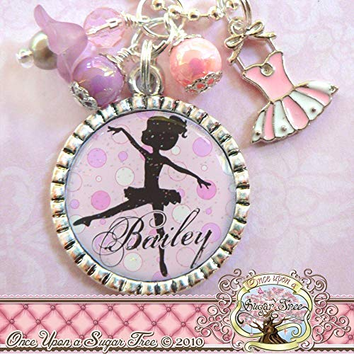 Ballerina Necklace, Dance Recital Gifts, Silhouette Jewelry, Personalized Ballet Necklace, Pink Purple