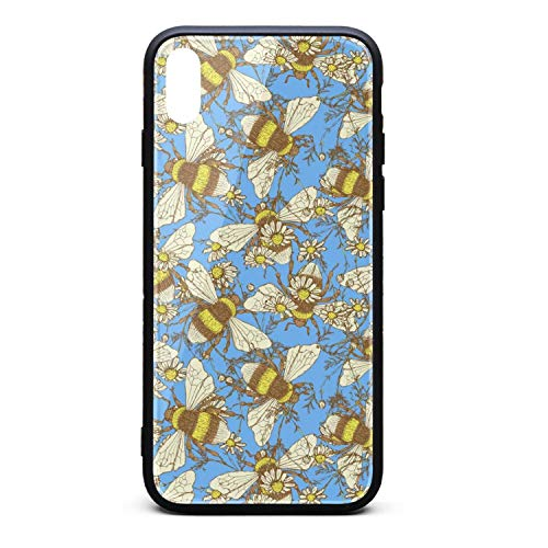 Srel rtrterwe Phone case for iPhone X/iPhone Xs/iPhone Xs Max Daisy Flowerand Bees Bumper Matte TPU Protective Back Mobile Cover Cell Phone Holder -