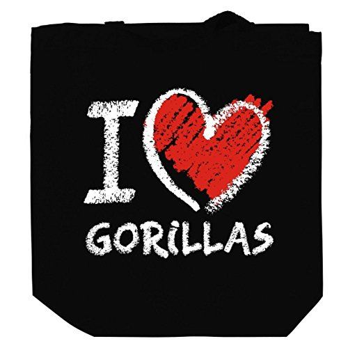 I love Gorilla chalk style Canvas Tote Bag
