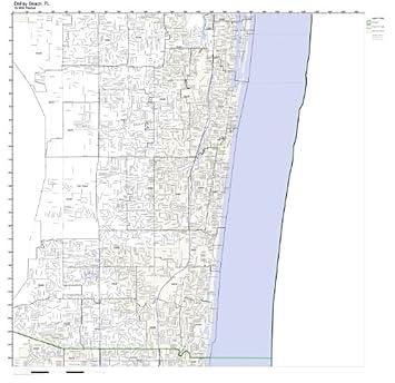 Map Of Delray Beach Florida.Amazon Com Delray Beach Fl Zip Code Map Laminated Home Kitchen