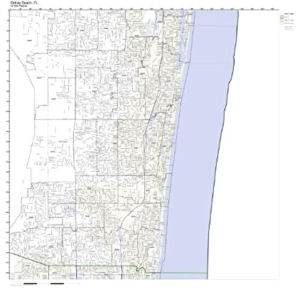 Map Of Delray Beach Florida.Amazon Com Delray Beach Fl Zip Code Map Not Laminated Home Kitchen