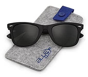f451ad1ef46 Image Unavailable. Image not available for. Color  Stylish 80th Retro  Unisex Polarized Sunglasses UV400 Classic Vintage Chic