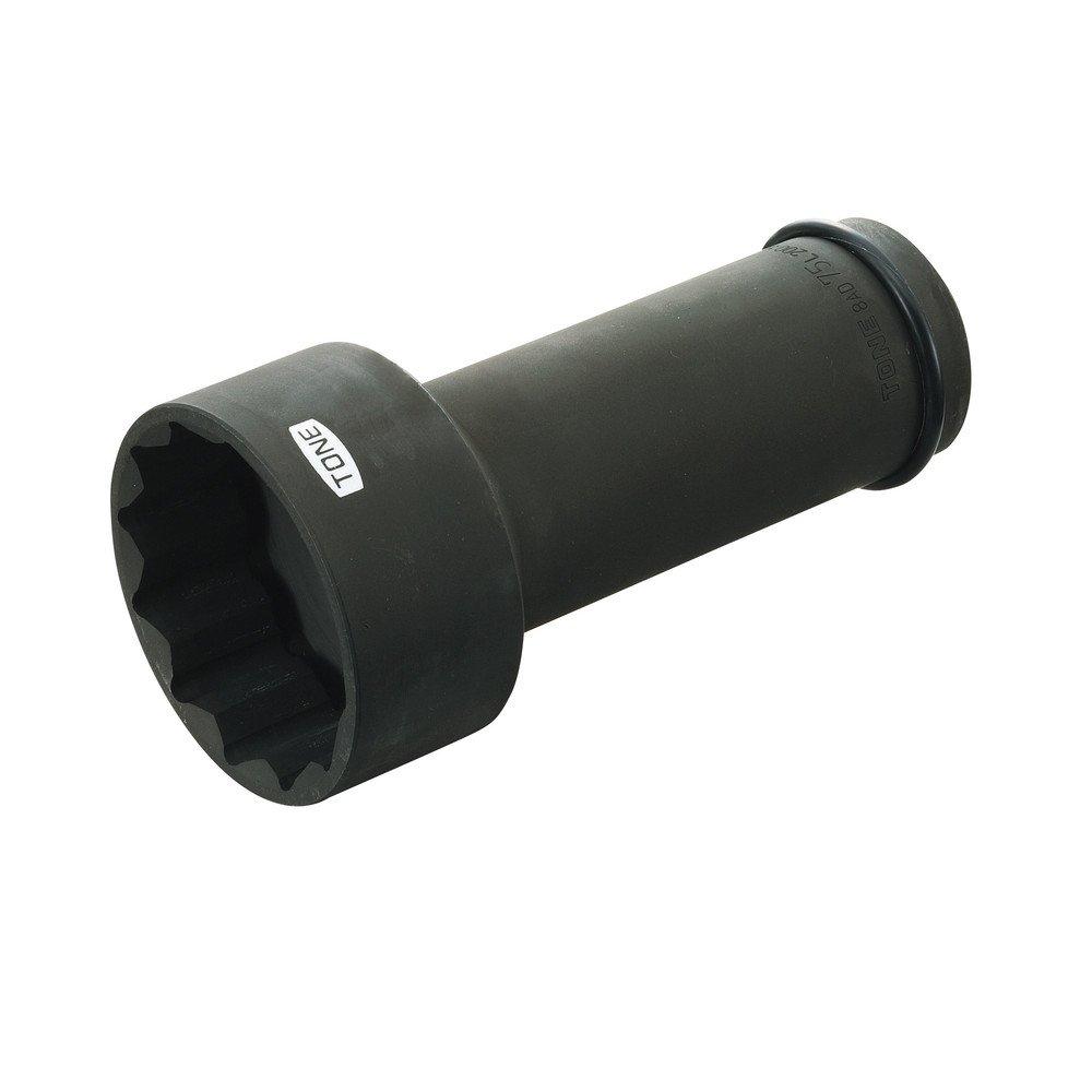 トネ(TONE) アンカーボルト用ソケット(12角) 8AD-65L200 差込角25.4mm 二面幅65mm B00D2JBSWK 二面幅:65mm 二面幅:65mm