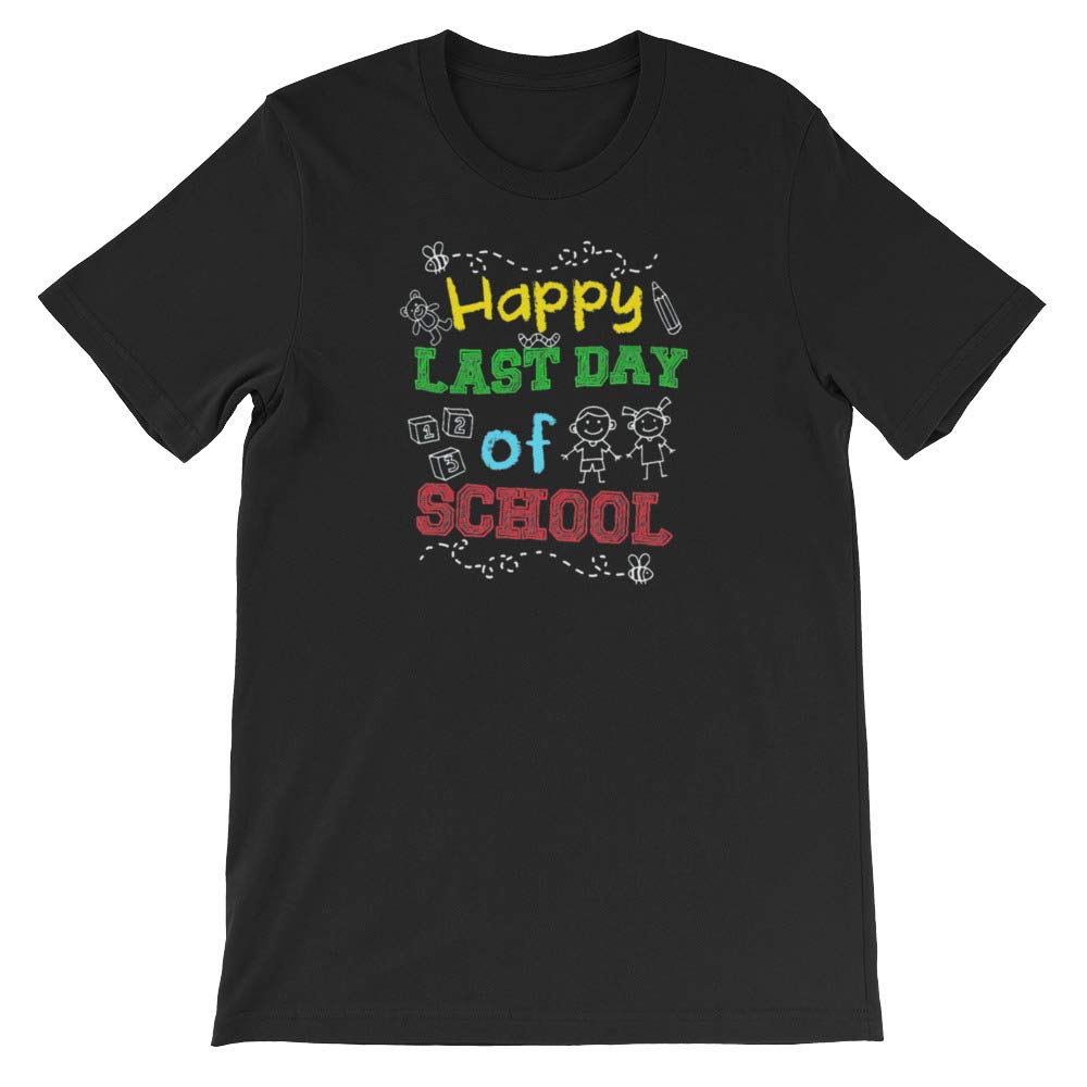 Funny Gift Short-Sleeve Unisex T-Shirt Novaon Store Happy Last Day of School Graduation Day Teacher Shirt