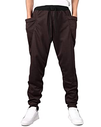 Homme Pantalon de Sport Jogging Sarouel Fitness Pantalons Loose Crotch  Skinny Pants Coffee S 1a6db87ec47