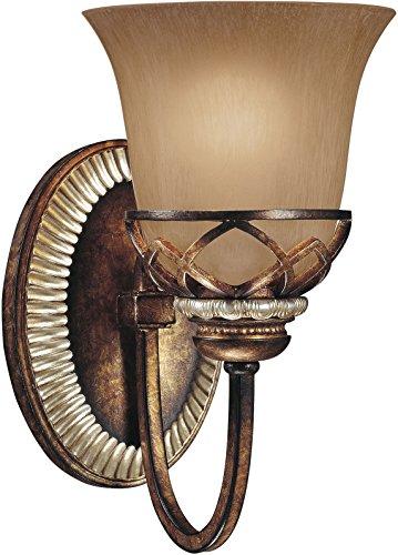 Aston Court One Light - Minka Lavery Wall Sconce Lighting 5741-206, Aston Court Reversible Glass Damp Bath Vanity Fixture, 1 Light, 100 Watts, Bronze