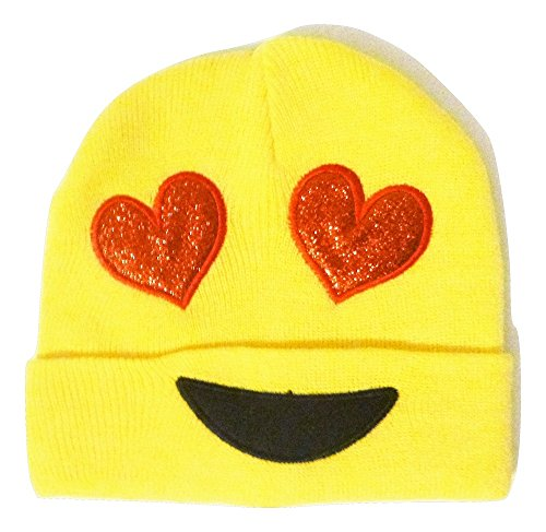 Heart Eyes Emoji Knit Cap - Fun - USA Seller (Sexy Grinch)